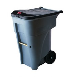 Rubbermaid - 9W22-GRAY - Gray 95 Gallon Roll Outcontainer, Ea