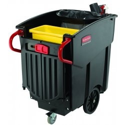 Rubbermaid - 9W73 - Black 120 Gallon Capacity Mega Brute Waste Colle, Ea