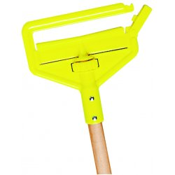 "Rubbermaid - H116000000 - Rubbermaid Invader Wet Mop Hardwood Handle - 60"" Length - Yellow - Hardwood, Plastic"