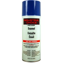 Rust-Oleum - 1624830 - Industrial Choice Spray Paint in Gloss OSHA Safety Blue for Masonry, Metal, Plastic, Wood, 12 oz.