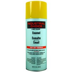 Rust-Oleum - 1644830 - Industrial Choice Spray Paint in Gloss OSHA Safety Yellow for Masonry, Metal, Plastic, Wood, 12 oz.
