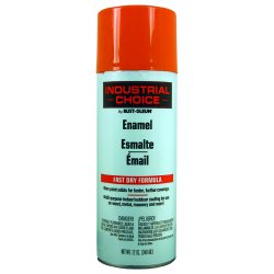 Rust-Oleum - 1653830 - Industrial Choice Spray Paint in Gloss OSHA Safety Orange for Masonry, Metal, Plastic, Wood, 12 oz.