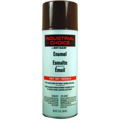 Rust-Oleum - 1674830 - Industrial Choice Spray Paint in Gloss Leather Brown for Masonry, Metal, Plastic, Wood, 12 oz.