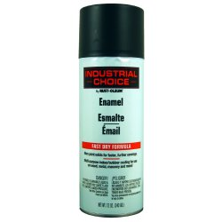 Rust-Oleum - 1676830 - Industrial Choice Spray Paint in Flat Flat Black for Masonry, Metal, Plastic, Wood, 12 oz.