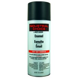 Rust-Oleum - 1678830 - Industrial Choice Spray Paint in Semi-Flat Semi Flat Black for Masonry, Metal, Plastic, Wood, 12 oz.
