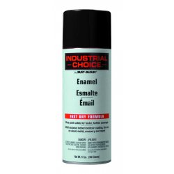 Rust-Oleum - 1679830 - Industrial Choice Spray Paint in Gloss Gloss Black for Masonry, Metal, Plastic, Wood, 12 oz.