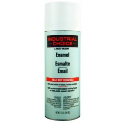 Rust-Oleum - 1690830 - Industrial Choice Spray Paint in Flat White for Masonry, Metal, Plastic, Wood, 12 oz.