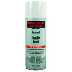 Rust-Oleum - 1692830 - Industrial Choice Spray Paint in Gloss Gloss White for Masonry, Metal, Plastic, Wood, 12 oz.