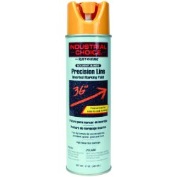 Rust-Oleum - 203024 - Caution Yellow Precision Line Marking Paint, Solvent Base Type, 17 oz.