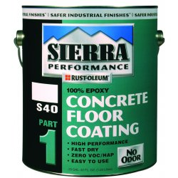 Rust-Oleum - 208084 - Satin Epoxy Floor Coating, Satin Clear, 1 gal. Container, Partial Fill 42 fl oz