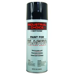 Rust-Oleum - 223838 - Industrial Choice P1600paint For Plastic Black