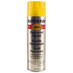 Rust-Oleum - 2242838 - 838 14-oz Fluorescent Yellow Spray Paint, Ea