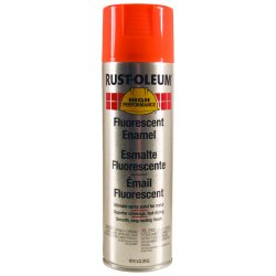 Rust-Oleum - 2255838 - 838 14-oz Fluorescent Orange Spray Paint, Ea