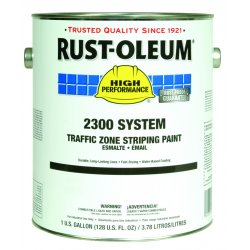 Rust-Oleum - 2348402 - Yellow Traffic Zone Striping Paint, Water Base Type, 1 gal.