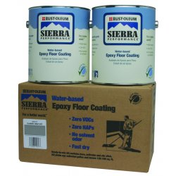 Rust-Oleum - 251212 - Gloss Epoxy Floor Coating Kit, Classic Gray, 1 gal. Container, Partial Fill 42 fl oz