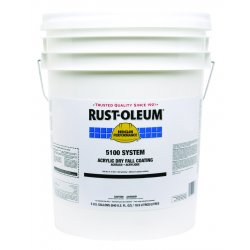 Rust-Oleum - 251280 - White Dry Fall Paint, Matte Finish, 210 to 260 sq. ft. Coverage, Size: 5 gal.