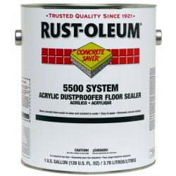 Rust-Oleum - 251282 - Micro-Acrylic Emulsion Concrete Dustproofer Floor Sealer, Clear, 1 gal.