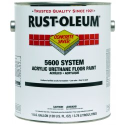 Rust-Oleum - 251289 - Gloss Urethane Modified Acrylic Floor Paint, White, 1 gal.