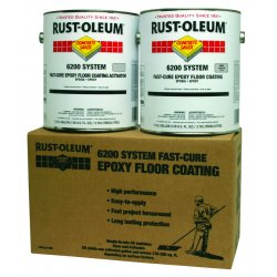 Rust-Oleum - 251763 - Semi Gloss Epoxy Mastic Floor Coating Kit, Silver Gray, 1 gal.