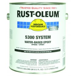 Rust-Oleum - 5392408 - White Epoxy Paint, Gloss Finish, 200 to 350 sq. ft./gal. Coverage, Size: 1 gal.