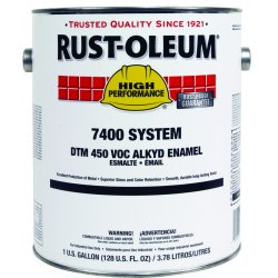 Rust-Oleum - 7280402 - Semi-Gloss Light Neutral Gray Interior/Exterior Paint, 1 gal.
