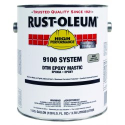 Rust-Oleum - 9192402 - White Epoxy Mastic Coating, Semi-Gloss Finish, 125 to 225 sq. ft./gal. Coverage, Size: 1 gal.
