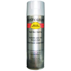 Rust-Oleum - V2116838 - High Performance High Temperature Spray Paint in Flat Aluminum for Metal, Steel, 15 oz.