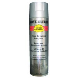 Rust-Oleum - V2117838 - Rust Preventative Spray Paint in Metallic Bright Galvanized for Metal, Steel, 20 oz.