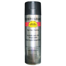 Rust-Oleum - V2176838 - Paint Aerosol High Temperature Black Rust-oleum Hard Hat 15 Square Feet Coverage Volatile Organic Compound, Ea