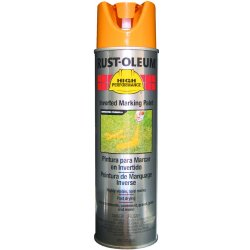 Rust-Oleum - V2345838 - Caution Yellow Inverted Striping Paint, Water Base Type, 15 oz.