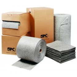 Brady - MRO150DND - SPC MRO Plus Heavy Absorbent Pads with Dispense-N-Dispose System, 36 Gal/Bale Capacity, 180/Case