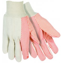 Southern Glove - USD103 - Medium Weight Glove W/orange Dots White Knit