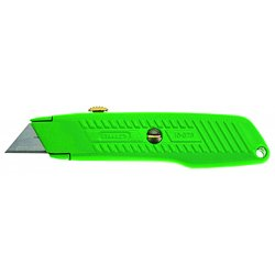 Stanley / Black & Decker - 10-179L - High Visibility Green, Carbon Steel Utility Knife, 5-7/8 Overall Length, Number of Blades Included: 3