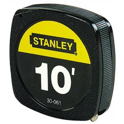 Stanley / Black & Decker - 30-506 - 6 ft. Steel SAE Tape Measure, Black