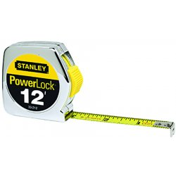 Stanley / Black & Decker - 33-212 - 12 ft. Steel SAE Tape Measure, Chrome