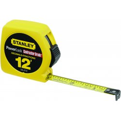 "Stanley / Black & Decker - 33-272 - 12' x 1/2"" Powerlock© Tape Rule (with decimal scale)"