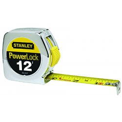 Stanley / Black & Decker - 33-312 - 12 ft. Steel SAE Tape Measure, Chrome