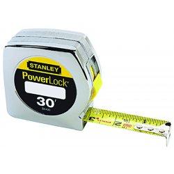 "Stanley / Black & Decker - 33-430 - Powerlock Tape, 30', 1"" wide blade"