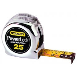 Stanley / Black & Decker - 33-525 - Stanley 33-525 25-Foot X 1-Inch Polymer-Coated PowerLock Tape Rule w/Blade Armor