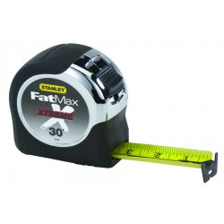 "Stanley / Black & Decker - 33-895 - Stanley 30' X 1 1/4"" FatMax Xtreme Tape Rule With Cushion Grip Handle"