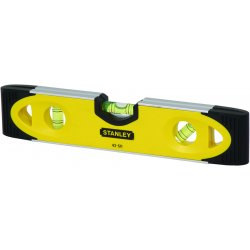 "Stanley / Black & Decker - 43-511 - Stanley 9"" Aluminum Shock Resistant High Impact Magnetic Torpedo Level With (3) Vials"