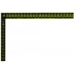 "Stanley / Black & Decker - 45011 - Stanley Premium Aluminum Rafter Square (English) - 24"" Length - Black, Yellow - Aluminum - Corrosion Resistant"