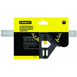 "Stanley / Black & Decker - 46012 - Stanley 12"" Plastic Handle Combination Square (English) - 12"" Length - Plastic - Chrome Plated, Lightweight"