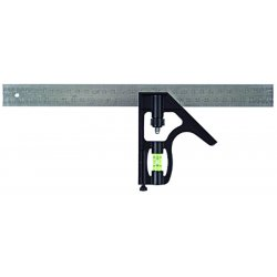 "Stanley / Black & Decker - 46222 - Stanley 12"" Combination Square - 12"" Length - Chrome, Metal - Rust Resistant, Built-in Scriber"