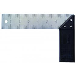 "Stanley / Black & Decker - 46502 - Stanley 8"" Blade Plastic Try/Mitre Square (English) - Aluminum, Plastic - Lightweight"