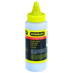 Stanley / Black & Decker - 47-803 - Marking Chalk Refill, Temporary, Blue, 8 Oz