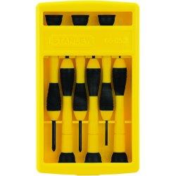 Stanley / Black & Decker - 66052 - Stanley 6-Piece Precision Screwdriver Set - Plastic - Swivel Head Handle, Cushion Grip