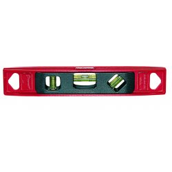 "L.S. Starrett - 36071 - Am-9 9"" Torpedo Level 3vials Magnetic Base, Ea"