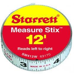 "L.S. Starrett - 63173 - Sm412me 1/2""x3.65m/12' P, Ea"