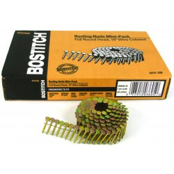 "Stanley Bostitch - CR4DGAL - Nail Coil 120 Roof 1-1/2""galv. 7200 Per Box, Box"